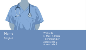 Gesundheitswesen & öffentliche Sicherheit Visitenkarte 57