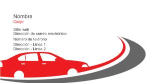 Automovilismo y transporte Tarjeta Profesional 18