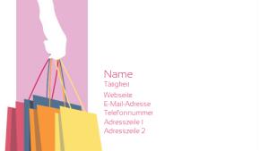 Einzelhandel & Verkauf Visitenkarte 16