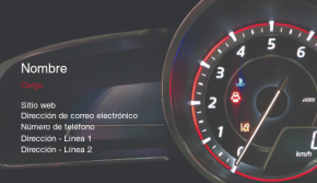 Automovilismo y transporte Tarjeta Profesional 38
