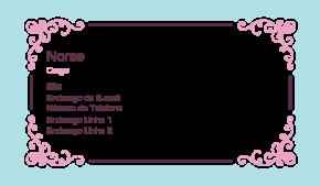 Beleza & Massagem Cartão de Visita 12