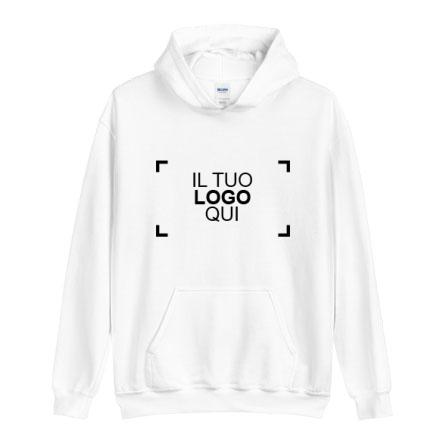 Davanti felpa personalizzata con logo