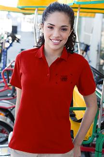 Women's Red Polo Shirt
