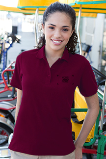 Women's Deepmaroon Polo Shirt