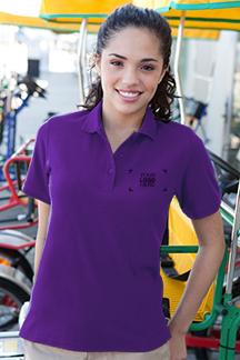 Women's Purple Polo Shirt