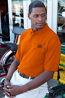 Men's Orange Polo Shirt