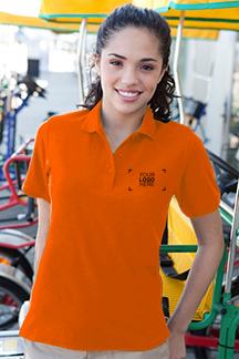 Women's Orange Polo Shirt