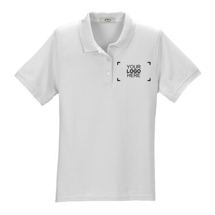 Custom Womens White Polo Shirt