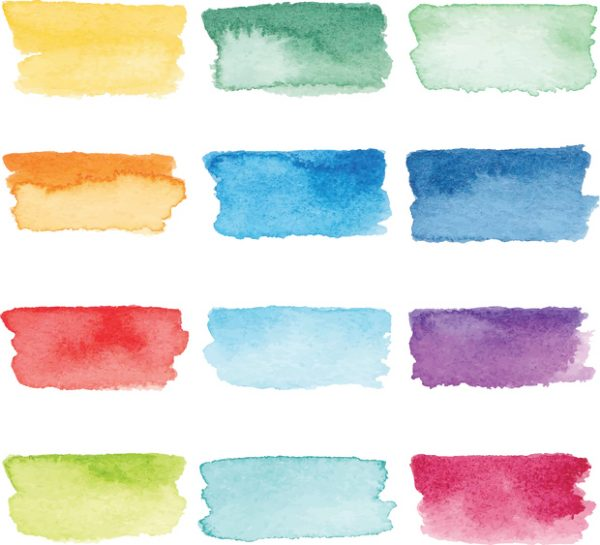 variety of color samples for a card design