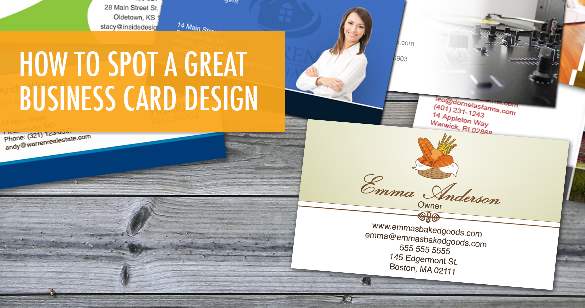 How to Spot a Great Business Card Design