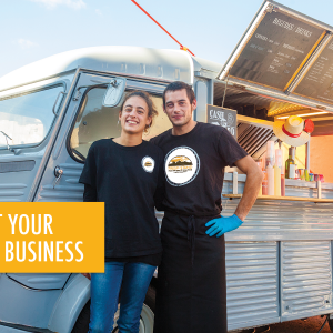 two food truck owners