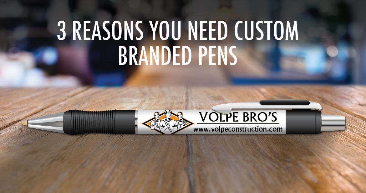branded pen with logo