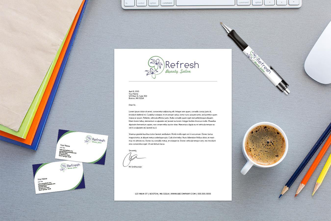custom pen and letterhead