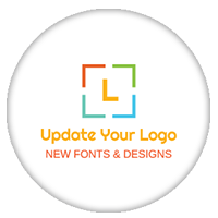 Sample Initial Logo created using our DIY logo tool