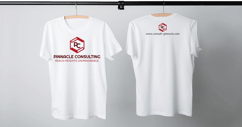 custom logo on white tshirt