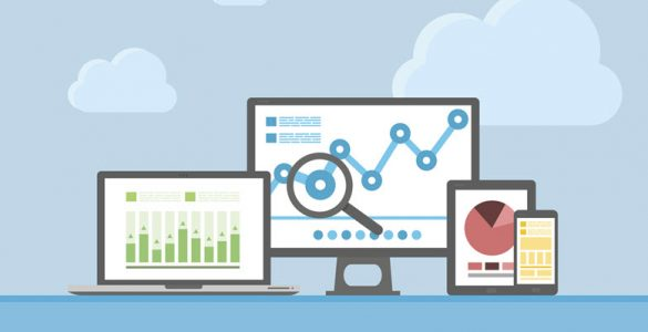 SEO analytics displayed on devices