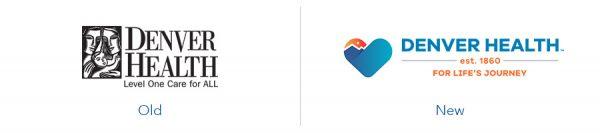 older denver health logo version versus new denver health logo version