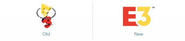 Older E3 logo version versus new eharmony logo version