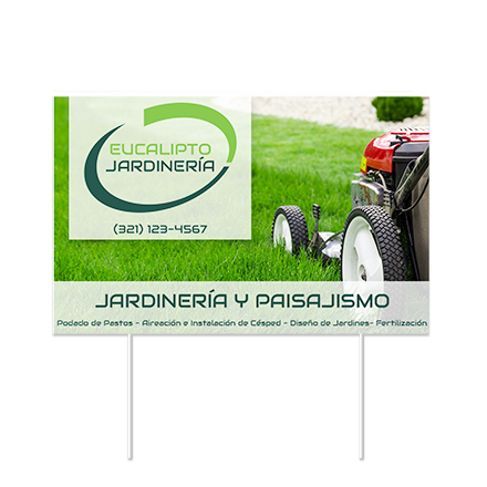 lawn sign with logo