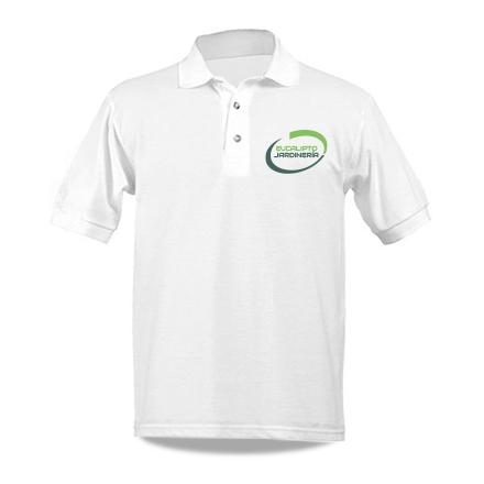 logo on a polo t-shirt