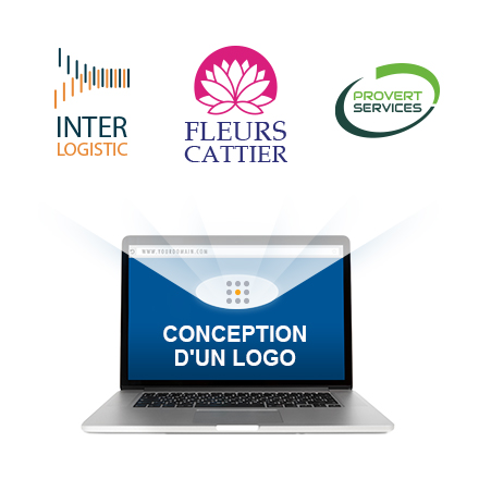 laptop with logo samples