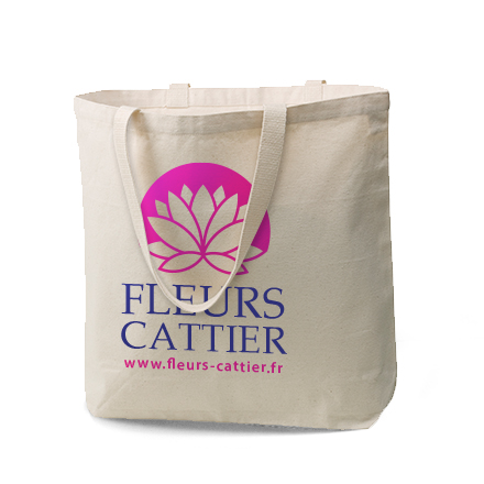 canvas tote bag with logo on it