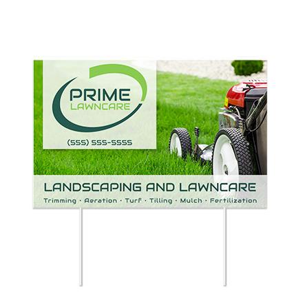custom lawn sign