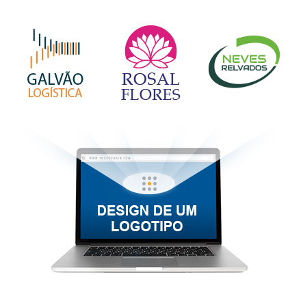 logo ideas on a laptop