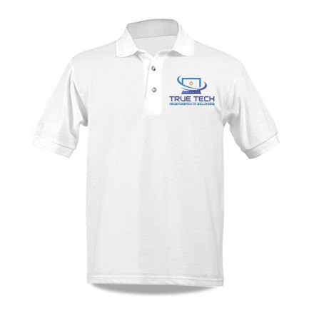 Embroidered Polo with Sample icon Logo Design True Tech Computer Solutions