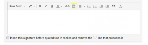 Add a Logo to an email signiture