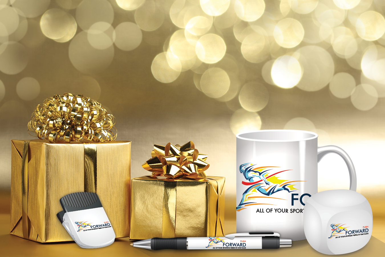 branded office supplies as holiday gifts
