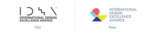 older international design awards logo version versus new international design awards logo version