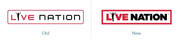 older live nation logo version versus new live nation logo version