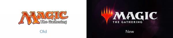 Older Magic the gathering logo version versus new magic the gathering logo version
