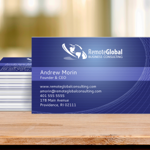 consulting business card example
