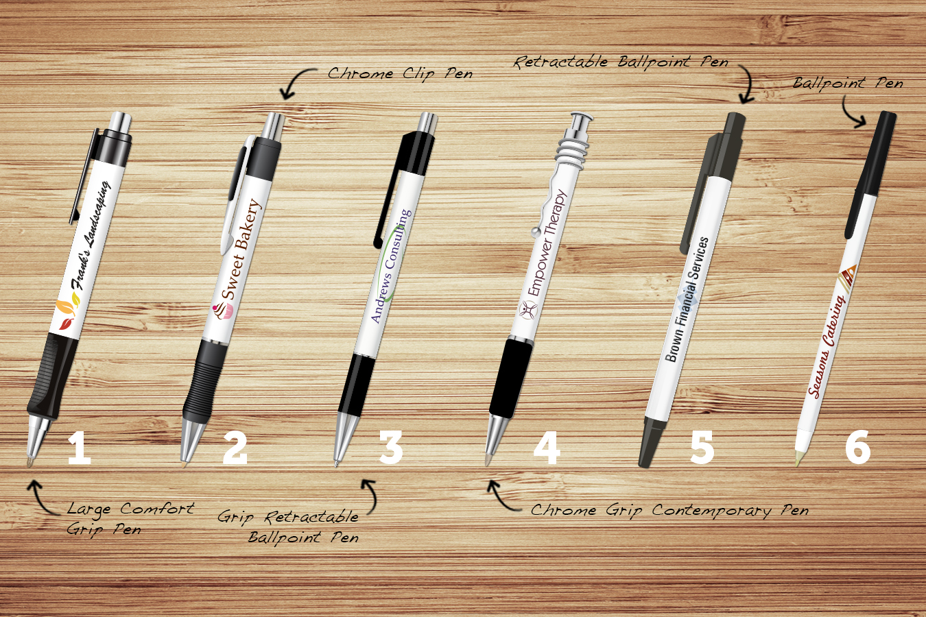 different types of pen styles