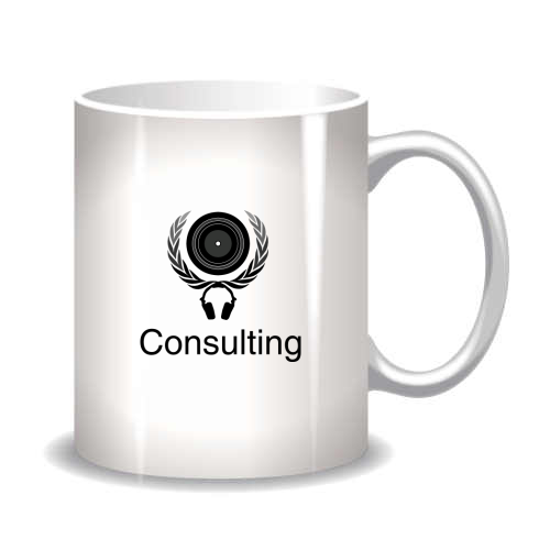 Mug with sample icon logo design