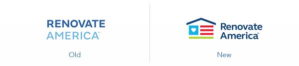 Older Renovate America logo version versus new Renovate America logo version