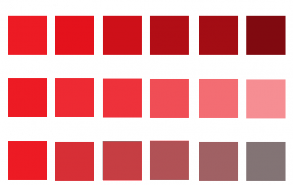 examples of shade, tint, and tone