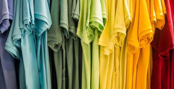 t-shirts in multiple colors