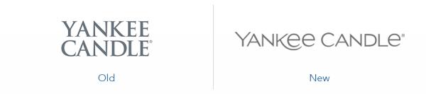 older yankee candle logo version versus new yankee candle logo version