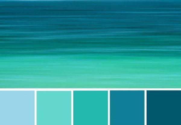 Combinações de cores em tons de azul