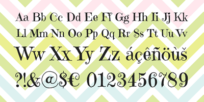 Sample text in emilys candy font