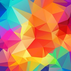 Color combinations and tones in geometric patterns