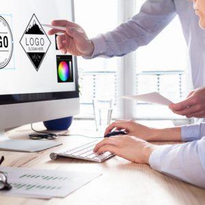 logo designers creating a logo