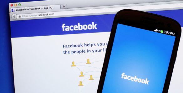 Facebook on desktop and mobile device