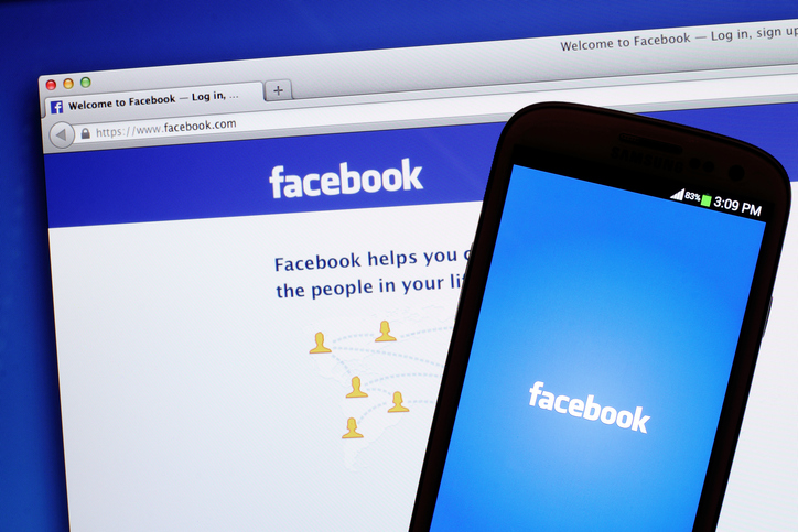 Facebook on desktop and mobile device