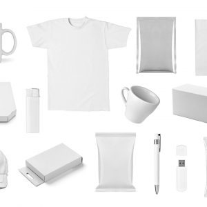 variety of white-colored promotional products