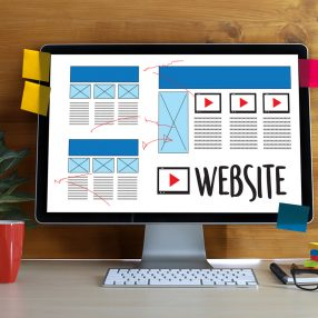 illustrated image of website design