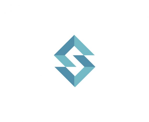 Geometric S shaped logo